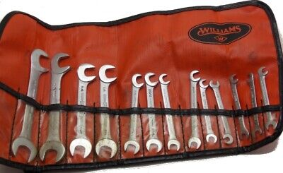 """Williams 13 Piece Ignition Wrench Set in Storage Pouch 13/64""""-5/8"""" Used"""