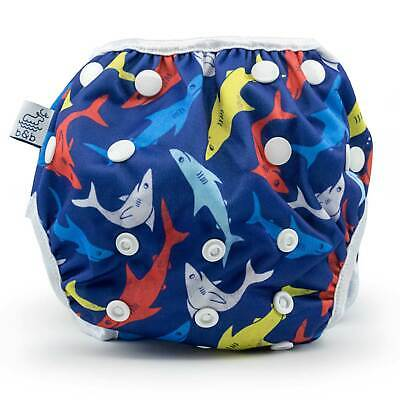 Sharks Nageuret Reusable Swim Diaper, Adjustable 0-3 Years