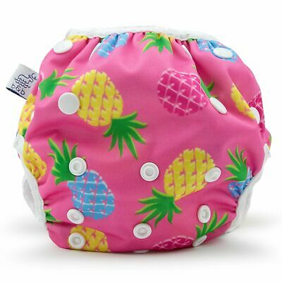 Large Pink Pineapples Nageuret Premium Reusable Swim Diaper, Adjustable 3-5 Year