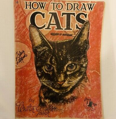 Vintage Art Book How to Paint Cats No 13 Walter Foster