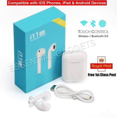 i11 TWS Bluetooth 5.0 AirPods, Wireless Earphones, Earbuds for Android & iPhone