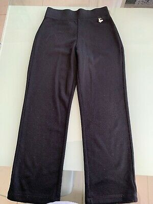 Girls Plain Black Trousers From George Age 5-6