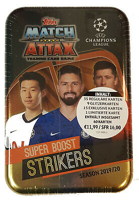 Topps Match Attax Champions League 2019/2020 Mega Tin Box Strikers 19/20