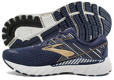 Brooks Adrenaline GTS 19 Mens Shoe Navy/Gold/Grey multiple sizes New In Box