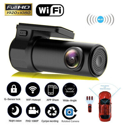 Mini HD 1080P Wifi Car DVR Camera Video Recorder Dash Cam Night Vision G-sensor