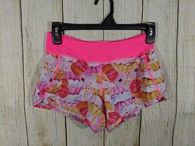 90 Degree Girls Size M (10) Cupcakes Running Lined Shorts