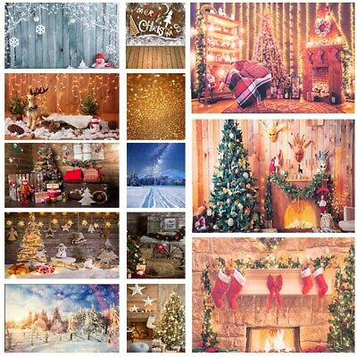 Xmas Bell Photo Backdrop Dreamy Photography Background Snowman Snow Street DY