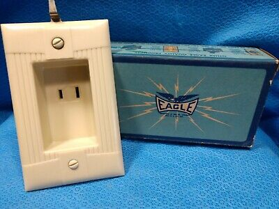 Vintage NOS Clock Hanger Outlet Eagle Electric Plug Switch Bakelite