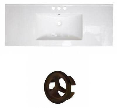39.75 in. Ceramic Top with Oil Rubbed Bronze Overflow Cap [ID 3715569]