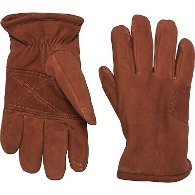 NWT New UGG AUSTRALIA Suede Leather Logo Patch Gloves Cognac Brown Large
