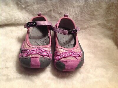 NWT NEW CIENTA Girls Pink Sparkle Canvas Mary Janes Shoes Sz 2.5 3 SPAIN