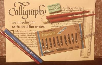 New SET of Calligraphy Fountain Pens, Nibs, & Instructions!