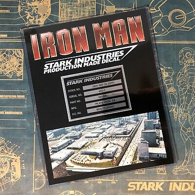 • Iron Man • Stark Industries • Production Made Prop Decals • Marvel • Endgame •