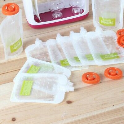 Protable Reusable Baby Kids Food Pouches Refillable Squeeze Bags Juice Pouch NEW