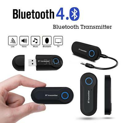 Wireless Bluetooth 4.0 Transmitter A2DP Audio RCA to 3.5mm AUX +USB Adapter HUB