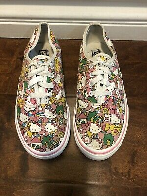Vans Authentic Hello Kitty  Shoes Pink White Print Womens Sz 3 Kids 4.5 Womens