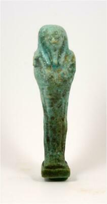 Egypt Late period green-blue faience ushabti of Hor-Ankh