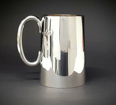 Heavy Quality Sterling Silver Tankard Tapered Mint condition
