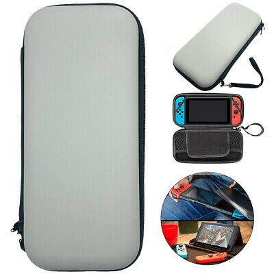 Grey Slim Armor EVA Hard Travel Case Cover Carrying Tough For Nintendo Switch