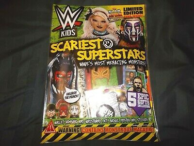WWE Kids Magazine Issue #153 October 2019 Scariest Superstars with gifts