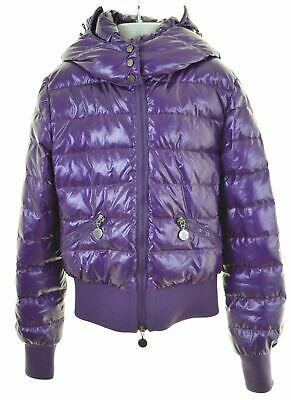 MONCLER Girls Padded Jacket 11-12 Years Purple Nylon  IN03