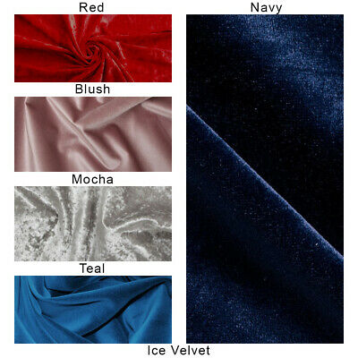 Ice Velvet Fabric, Luxury High Quality, Craft & Dressmaking,(Crushed/Plush)