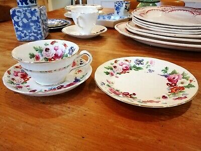 Charming Tea Cup, Saucer and Side Plate set   -  St Patrick's - fine condition