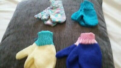 Hand Knitted Children's   Mittens  age 4 - 6 years