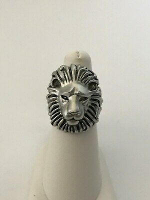 Kendra Scott Collin Silver Tone Male Lion Head Ring Size 6 New