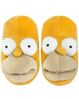 New The Simpsons Homer Simpson Men's Soft Plush Novelty 3D Slippers