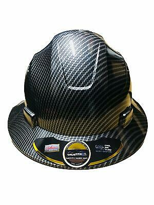 HDPE   Hydro Dipped Black/Silver  Full Brim Hard Hat with Fas-trac Suspension