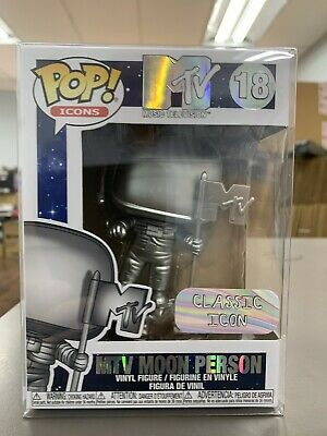 Funko Pop MTv Moon Person #18 Vinyl Figure w/ Protector