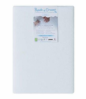 "Bundle of Dreams Flagship 5"" 2 Stage Mini Crib Mattress, Organic, Breathable"