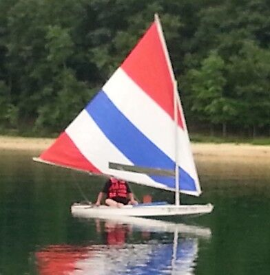 Sunfish Race Cut Sail in Red, White & Blue by IntensitySails