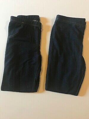 Lot Of 2 Circo & Faded Glory L 10-12 Leggings With Denim Look