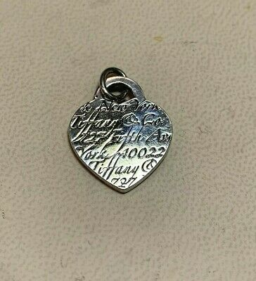 Tiffany & Co Sterling Silver New York 5th Avenue Heart Tag Pendant