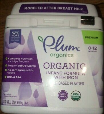 Plum Organics, Organic Infant Formula with Iron, 32 ounce/2lbs.