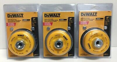 "(New) DeWalt DW4916 4"" Carbon Knot Cup Brush Metal 5/8""-11 Arbor .020"" Lot of 3"