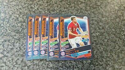 Match Attax Ucl 2016/17 Thomas Muller Bronze Limited Editions X5 Mint