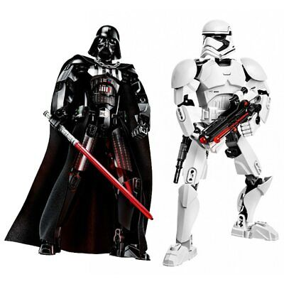 Star Wars Buildable Figure Building Block Stormtrooper Darth  Kylo Chewbacca