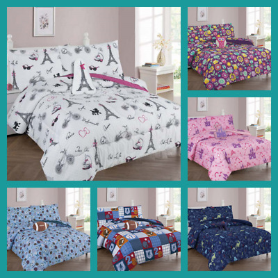Kids Comforters Set New Bedding Bed Design Girls & Boys 6/8 Pieces With Furry