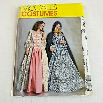 McCall's Costume Pattern Colonial Princess P249 UnCut Size EE (14 16 18 20) 2001