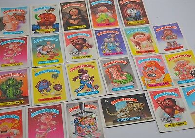 VTG LOT OF 45 GARBAGE PAIL KIDS TRADING PUZZLE,STICKERS CARDS 1980's