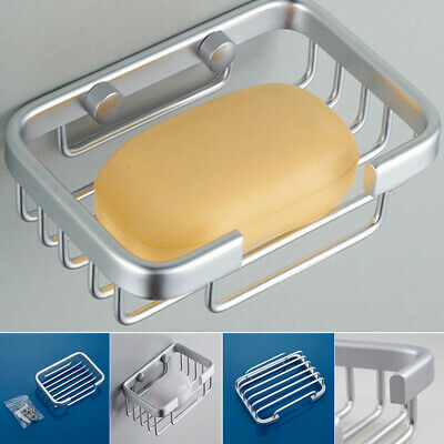 Wall Mounted Bathroom Shower Soap Dish Holder Basket Tray Storage Container