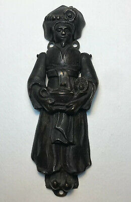 Antique Door Knocker Advertising Aladdin Homes Genie Turban Brass Figural