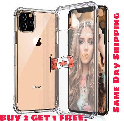 For iPhone 11 / 11Pro / Max Case Thin TPU Soft Transparent Shockproof Cover Case