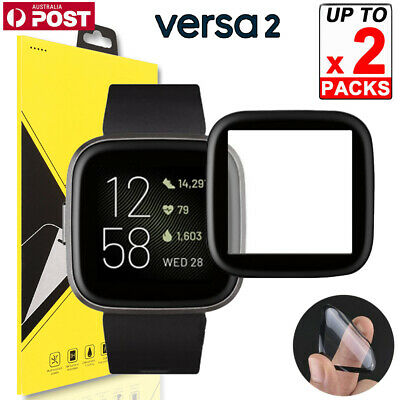 2x Ultra Clear Full Coverage PMMA Screen Protector Guard for Fitbit Versa 2 2019