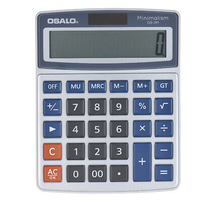 Solar Standard Function Desk Electronic Calculator 12 Digits Large Display C4K3