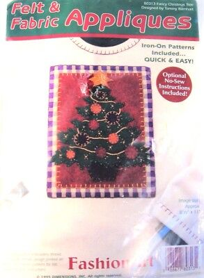 Vintage Dimensions 1995 Christmas Tree Felt Kit Applique Fashion Art