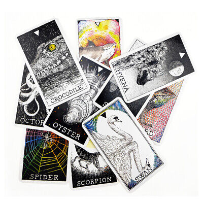 63pcs Animals Oracle Cards Deck Mysterious Tarot Cards Divination Fate 60 *103mm